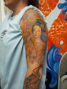 Geisha Japanese tattoo.